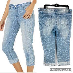 Bandolino Handkerchief Design Selena Crop Jeans